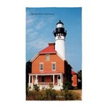 Au Sable Point Lighthouse Area Rug