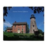 Charlotte Genesee Lighthouse Throw Blanket