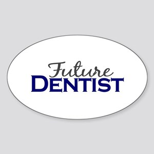 Future Dentist Oval Sticker