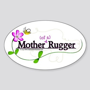 Mother (of a) Rugger Oval Sticker