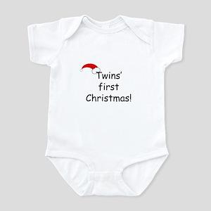Twins First Xmas Infant Bodysuit