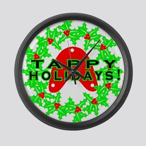 Tappy Holidays Designs for Ta Large Wall Clock