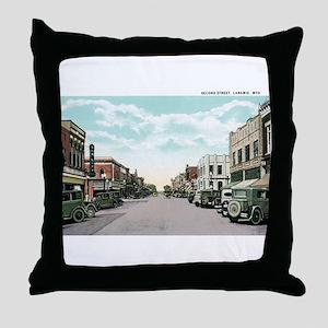 Laramie WY Throw Pillow