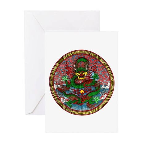 Tibetan Dragon Greeting Card