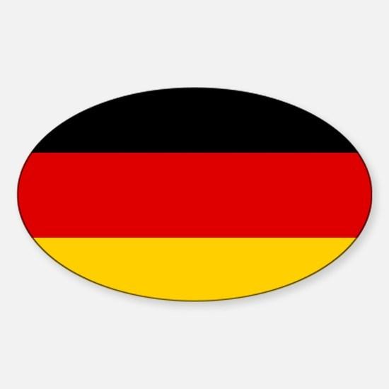 Flag: Germany Sticker (Oval)