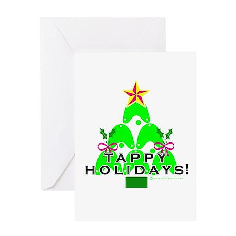 Tappy Holidays Christmas Tree Greeting Card
