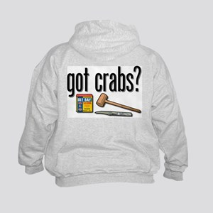 """""""got crabs?"""" Kids Hoodie"""
