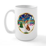 XmasMusic 3/Basenji Large Mug
