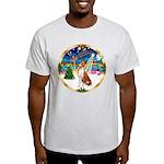 XmasMusic 3/Basenji Light T-Shirt