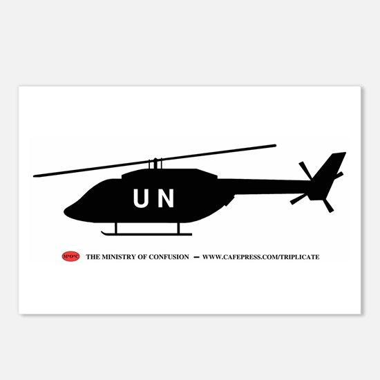 Black UN Helicopter Postcards (Package of 8)
