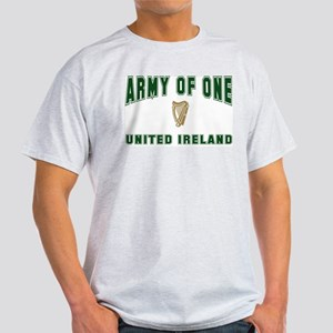 """Army of One- United Ireland"" Ash Grey T-Shirt"