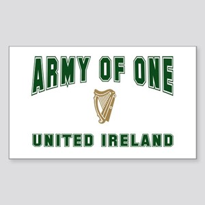 """Army of One- United Ireland"" Sticker (Rectangular"