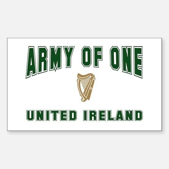 """Army of One- United Ireland"" Sticker (Rectangular"