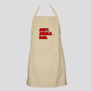 """Sexy. Single. Dad."" BBQ Apron"