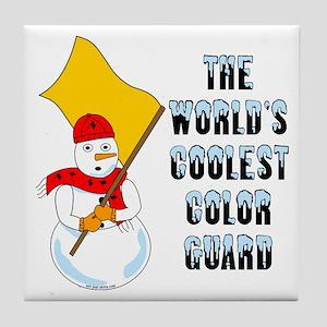 Coolest Color Guard Tile Coaster