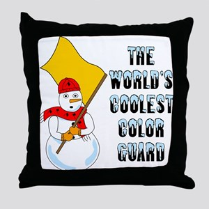 Coolest Color Guard Throw Pillow