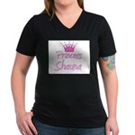 Princess Shauna Women's V-Neck Dark T-Shirt