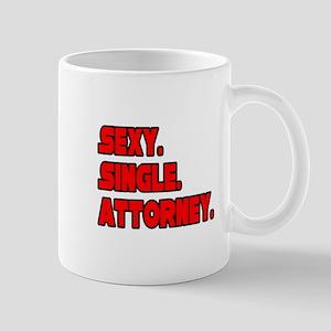 """Sexy. Single. Attorney."" Mug"