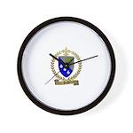 PEPIN Family Crest Wall Clock