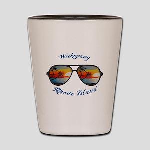 Rhode Island - Weekapaug Shot Glass