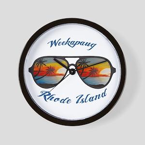 Rhode Island - Weekapaug Wall Clock