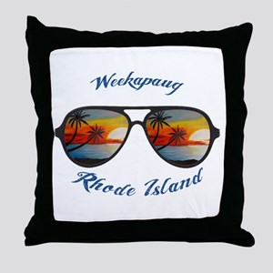 Rhode Island - Weekapaug Throw Pillow