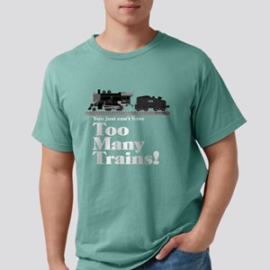 Too Many Trains White Lettering T-Shirt