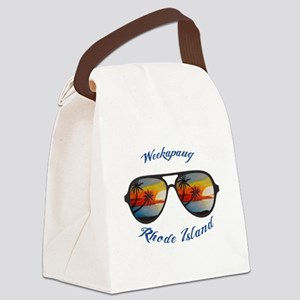 Rhode Island - Weekapaug Canvas Lunch Bag