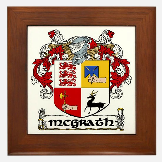 McGrath Coat of Arms Framed Tile