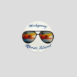 Rhode Island - Weekapaug Mini Button
