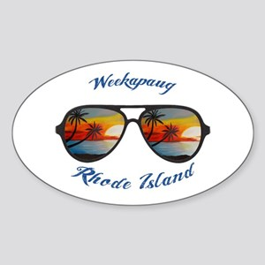 Rhode Island - Weekapaug Sticker