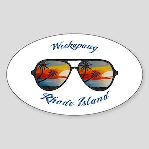 Rhode Island - Weekapaug Sticker