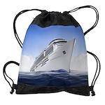 Cruise Ship Drawstring Bag