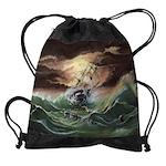Ship Painting Drawstring Bag