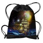 Sail Ship Universe Drawstring Bag