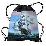 Sail Ship Painting Drawstring Bag