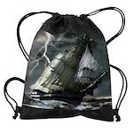 Ghost Ship Drawstring Bag