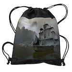 Old Sail Ship Drawstring Bag