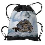 Turtle World Animals Drawstring Bag