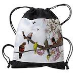 Tropical Birds Drawstring Bag