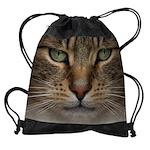 Tabby Cat Face Drawstring Bag