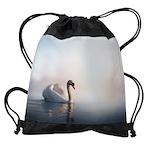 Swan Sunrise Drawstring Bag