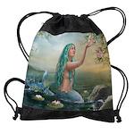 Marine Mermaid Drawstring Bag