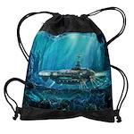 Steampunk Submarine Drawstring Bag