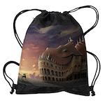 Sleeping Dragon Castle Drawstring Bag