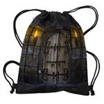 Gothic Spooky Door Drawstring Bag