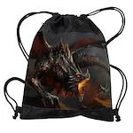 Dragon And Knight Drawstring Bag