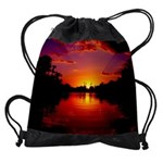 Sunset Landscape Drawstring Bag