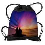 Romantic Sunset Drawstring Bag