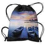 Boardwalk Boats Drawstring Bag